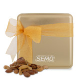 Bookstore Deluxe Nut Medley Gold Medium Tin-SEMO Wordmark Embroidery Engraved