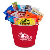 Bookstore Metal Gift Bucket w/Neoprene Cover-SEMO Logo with Redhawks