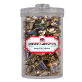 State Snickers Satisfaction Large Round Canister-Official Logo