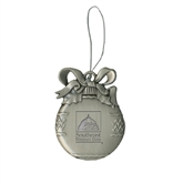 Bookstore Silver Bulb Ornament-Primary Logo Engraved