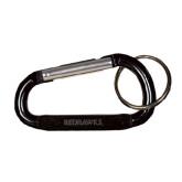 Black Carabiner with Split Ring-Redhawks Engraved