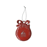 Bookstore Red Bulb Ornament-Primary Logo Engraved