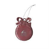 Bookstore Pink Bulb Ornament-Primary Logo Engraved
