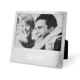 Bookstore Silver 5 x 7 Photo Frame-SEMO Wordmark Embroidery Engraved
