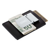 Bookstore Zippo Leather Money Clip Card Case-SEMO Wordmark Embroidery Engraved