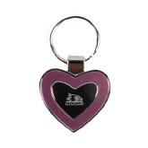 Silver/Pink Heart Key Holder-Offical Logo Engraved