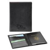 Bookstore Fabrizio Black RFID Passport Holder-SEMO Logo Embroidery Engraved