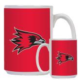 Full Color White Mug 15oz-Redhawk Head