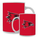 Bookstore Full Color White Mug 15oz-Hawk Head