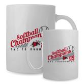 Bookstore Full Color White Mug 15oz-2019 OVC Softball Champions