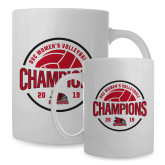 Bookstore Full Color White Mug 15oz-2019 Volleyball Champions