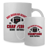 Bookstore Full Color White Mug 15oz-2019 Football Regular Season Champions
