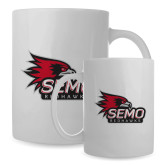Bookstore Full Color White Mug 15oz-SEMO Logo with Redhawks