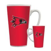 Full Color Latte Mug 17oz-Redhawk Head