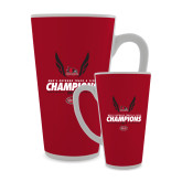 Bookstore Full Color Latte Mug 17oz-2017 OVC Mens Outdoor Track and Field Champions