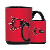 Full Color Black Mug 15oz-Redhawk Head
