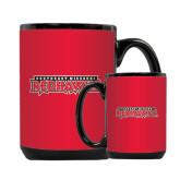 Full Color Black Mug 15oz-Southeast Missouri Redhawks