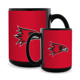 Bookstore Full Color Black Mug 15oz-Hawk Head