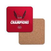 Bookstore Hardboard Coaster w/Cork Backing-2017 OVC Mens Outdoor Track and Field Champions