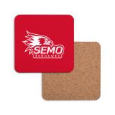 Bookstore Hardboard Coaster w/Cork Backing-SEMO Logo with Redhawks