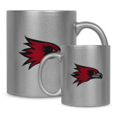 Bookstore Full Color Silver Metallic Mug 11oz-Hawk Head
