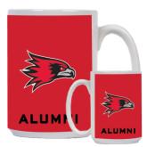 Alumni Full Color White Mug 15oz-Redhawk Head