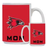 Mom Full Color White Mug 15oz-Redhawk Head