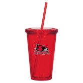 Bookstore Madison Double Wall Red Tumbler w/Straw 16oz-Primary Logo
