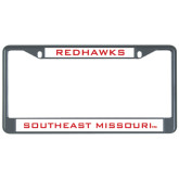 Metal License Plate Frame in Black-Redhawks
