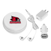 Bookstore 3 in 1 White Audio Travel Kit-Primary Logo