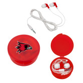 Bookstore Ear Buds in Red Case-Hawk Head