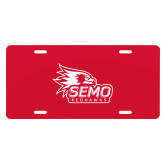 Bookstore License Plate-SEMO Logo with Redhawks
