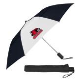 Bookstore 42 Inch Slim Stick Black/White Vented Umbrella-Primary Logo