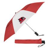 Bookstore 42 Inch Slim Stick Red/White Vented Umbrella-Primary Logo
