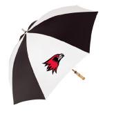 62 Inch Black/White Umbrella-Redhawk Head