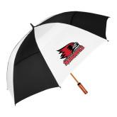 Bookstore 62 Inch Black/White Vented Umbrella-Primary Logo