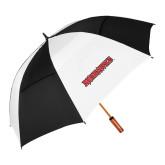 Bookstore 62 Inch Black/White Vented Umbrella-Redhawks