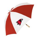 62 Inch Red/White Vented Umbrella-Redhawk Head