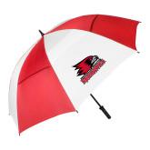 Bookstore 62 Inch Red/White Vented Umbrella-Primary Logo