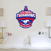 4 ft x 4 ft Fan WallSkinz-2017 AAC Conference Champions - Mens Basketball Arched Shadow
