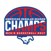 Medium Decal-2017 AAC Regular Season Champs - Mens Basketball Half Ball