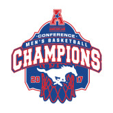 Medium Decal-2017 AAC Conference Champions - Mens Basketball Arched Net, 8 in tall