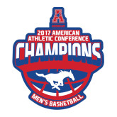 Large Decal-2017 AAC Conference Champions - Mens Basketball Arched Shadow, 12 in tall
