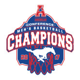 Large Decal-2017 AAC Conference Champions - Mens Basketball Arched Net, 12 in tall