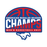 Small Decal-2017 AAC Regular Season Champs - Mens Basketball Half Ball