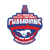 Small Decal-2017 AAC Conference Champions - Mens Basketball Arched Shadow, 6 in tall