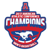 Extra Large Decal-2017 AAC Conference Champions - Mens Basketball Arched Shadow, 18 in tall