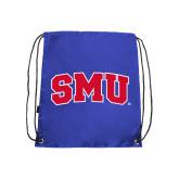 Nylon Royal Drawstring Backpack-Block SMU