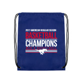 Royal Drawstring Backpack-2017 AAC Regular Season Mens Basketball Champions Stacked