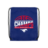 Royal Drawstring Backpack-2017 AAC Regular Season Champs - Mens Basketball Half Ball